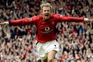 Beckham celebrates a stunner